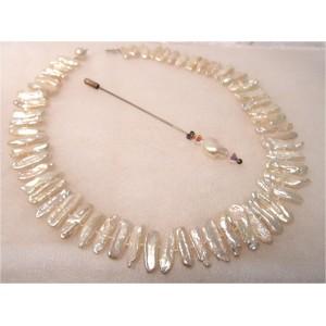 Collier perles d'eau douce Rose Saumonée