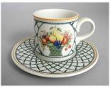 Ancienne mug et sous-mug Villeroy & Boch Basket
