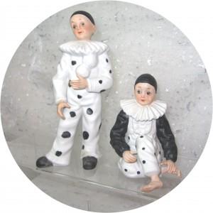 Très bel ensemble de Pierrot et Colombine.