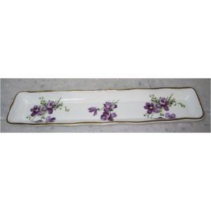 Coupelle porcelaine fine « Les Violettes »