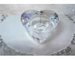Bougeoir en Cristal Forme de coeur