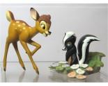 2 Figurines Bambi et Fleur ancienne