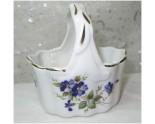 Panier en porcelaine violettes peintes à la main.