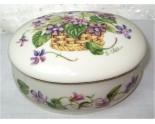 Boite en porcelaine à musique Lenox Violettes