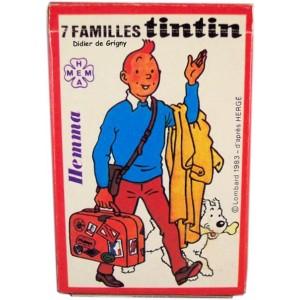 Jeu de carte Tintin HEMMA Lombard 1983