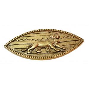 Très belle broche LE ROI LION façon bronze doré très rare 1994