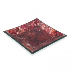 Assiette Décorative 12.7cm - Patchwork Rose