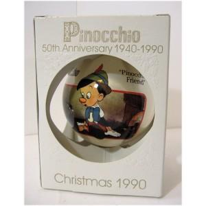 RARE Boule de NOEL Pinocchio 50th Anniversary