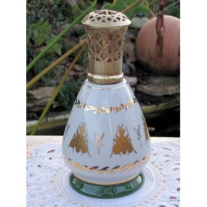 LAMPE BERGER PORCELAINE COULEUVRE EMPIRE