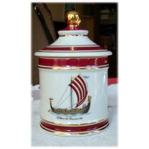 POT A TABAC - Porcelaine de LIMOGES SIGNES L. VALADE - DECOR BATEAU