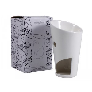 BRÛLEUR blanc Céramique pour huiles essentielles parfumées.QTCH02